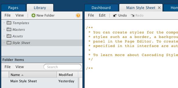 web prototype stylesheet