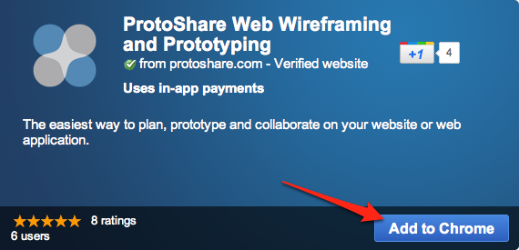 ProtoShare Hits the Chrome Web Store | Wireframing Tool