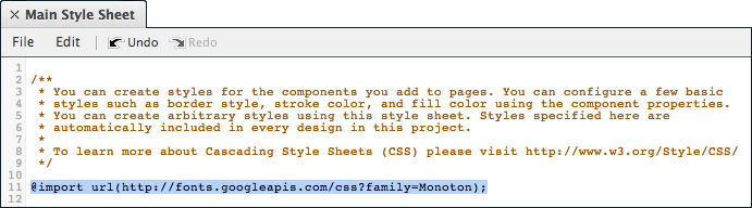 ProtoShare Style Sheet Editor