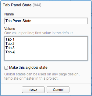 Inserting a new state value