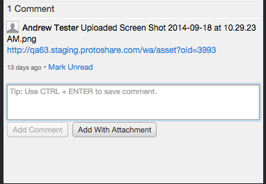 Adding attachments to comments in ProtoShare