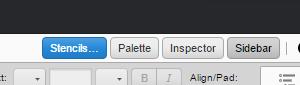 Sidebar Palette Inspector Buttons
